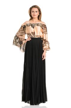 Daniella Cristea Plaited Black Skirt