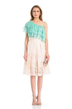 Daniella Cristea Trendy Woman Peach Skirt