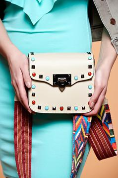 Beautiful Cream Leather Bag