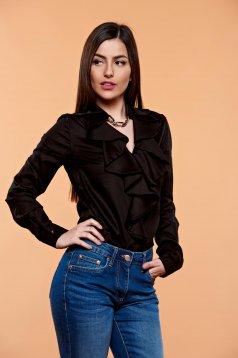 PrettyGirl Flame Design Black Blouse