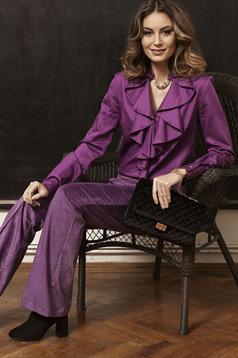 PrettyGirl Flame Design Purple Blouse