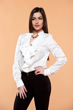 PrettyGirl Flame Design White Blouse