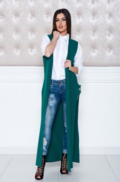 Daniella Cristea Secret Note Green Gilet