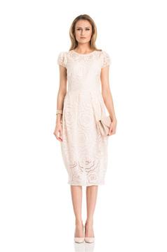 Daniella Cristea Duchess Cream Dress