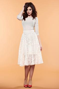 Daniella Cristea Delicacy Phantasm Cream Skirt