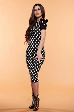 StarShinerS black daily dress dots print
