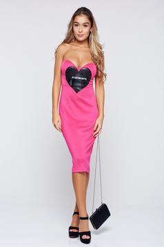 Ocassion pink dress casual pencil sleeveless