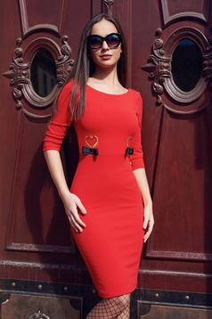 StarShinerS embroidered red bareback dress