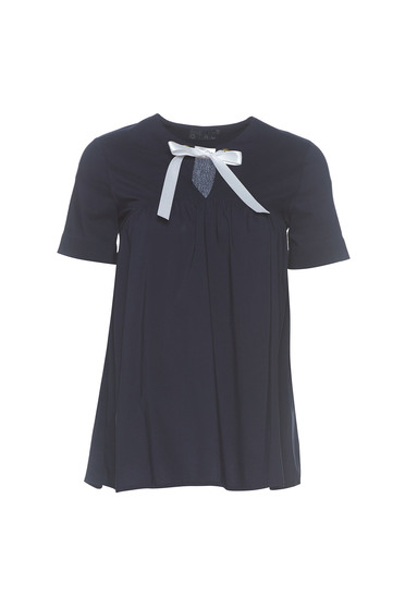 PrettyGirl darkblue easy cut cotton women`s blouse