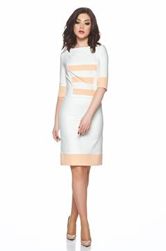 PrettyGirl peach daily dress horizontal stripes