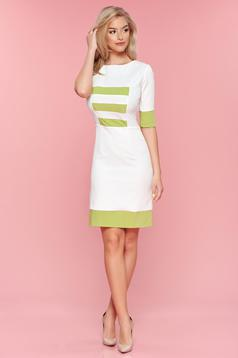 PrettyGirl lightgreen daily dress horizontal stripes