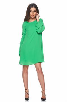PrettyGirl green dress airy fabric
