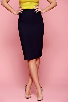 Fofy office darkblue skirt with medium waist