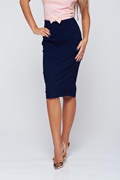 Fofy office darkblue skirt with medium waist