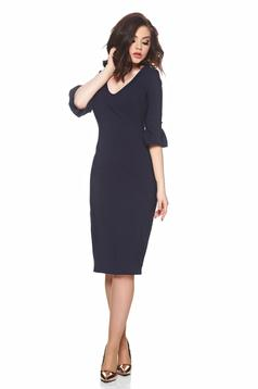 Fofy darkblue pencil dress with bell sleeve