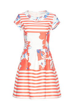 LaDonna red cloche dress with floral print