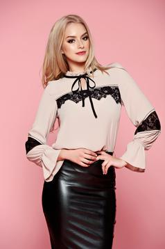 LaDonna Laced Touch Cream Blouse
