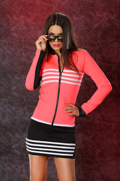 Ocassion black set 2 pieces stripes