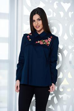 LaDonna Flourished Moment DarkBlue Shirt