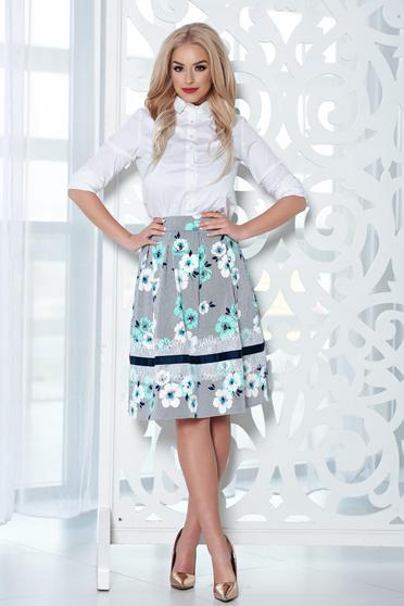 LaDonna midi mint cloche skirt with floral print