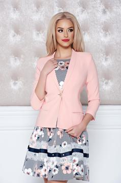 LaDonna peach jacket casual one button fastening