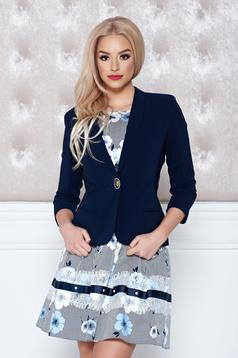 LaDonna darkblue jacket casual one button fastening