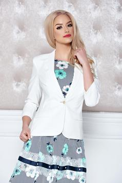 LaDonna white jacket casual one button fastening