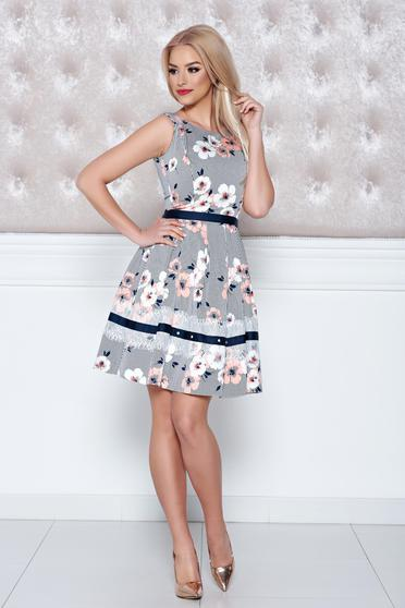 LaDonna peach dress sleeveless with floral prints