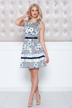 LaDonna lightblue dress sleeveless with floral prints