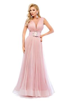 Ana Radu rosa dress evening dresses accessorized with belt