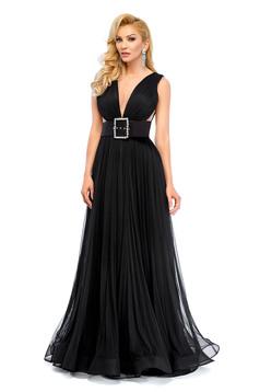 Ana Radu black dress evening dresses accessorized with belt