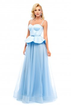 Ana Radu lightblue evening dresses corset dress with frilled waist