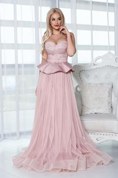 Ana Radu rosa evening dresses corset dress frilled waist