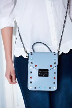 Sensational LightBlue Leather Bag