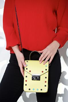 Sensational Yellow Leather Bag