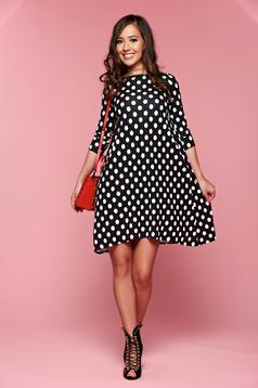 StarShinerS easy cut black dress with dots print
