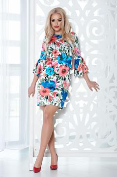 StarShinerS coral dress with satin fabric texture and floral prints