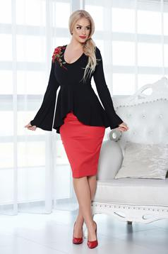 StarShinerS bell sleeve black set with embroidery details