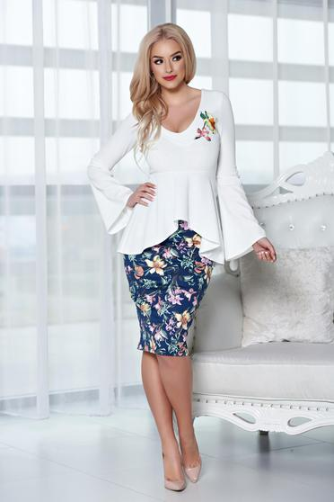 StarShinerS white set from 2 pieces with embroidery details