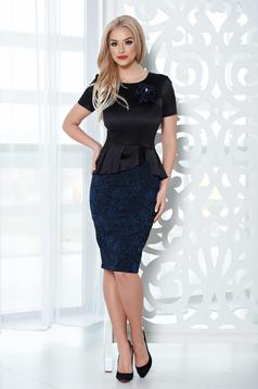 StarShinerS occasional black dress with floral details