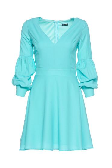 Artista mint cloche dress with v-neckline