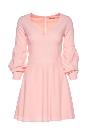 Artista rosa cloche dress with v-neckline