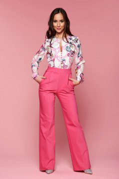 PrettyGirl occasional pink jumpsuit with graphic details