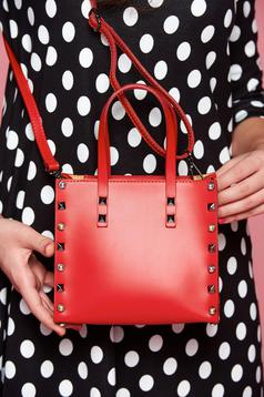 Natural leather red bag aims