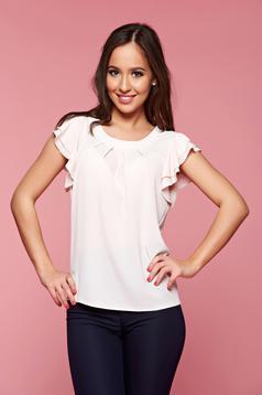 LaDonna voile fabric rosa women`s blouse easy cut