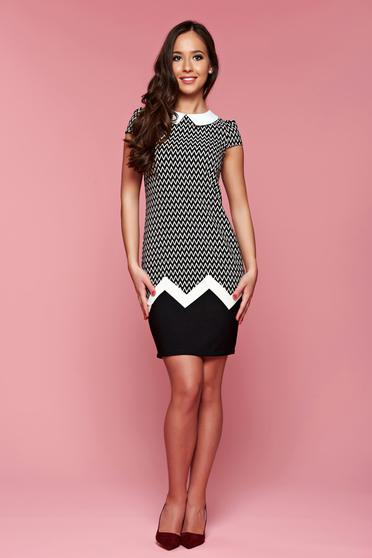 Fofy daily black flared dress with a collar