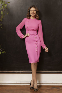 PrettyGirl Office Desire Pink Dress