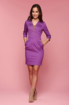 PrettyGirl Stylish Lady Purple Dress