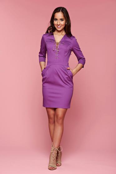PrettyGirl Stylish Lady Purple Dress