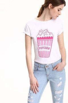 Top Secret cotton white casual t-shirt